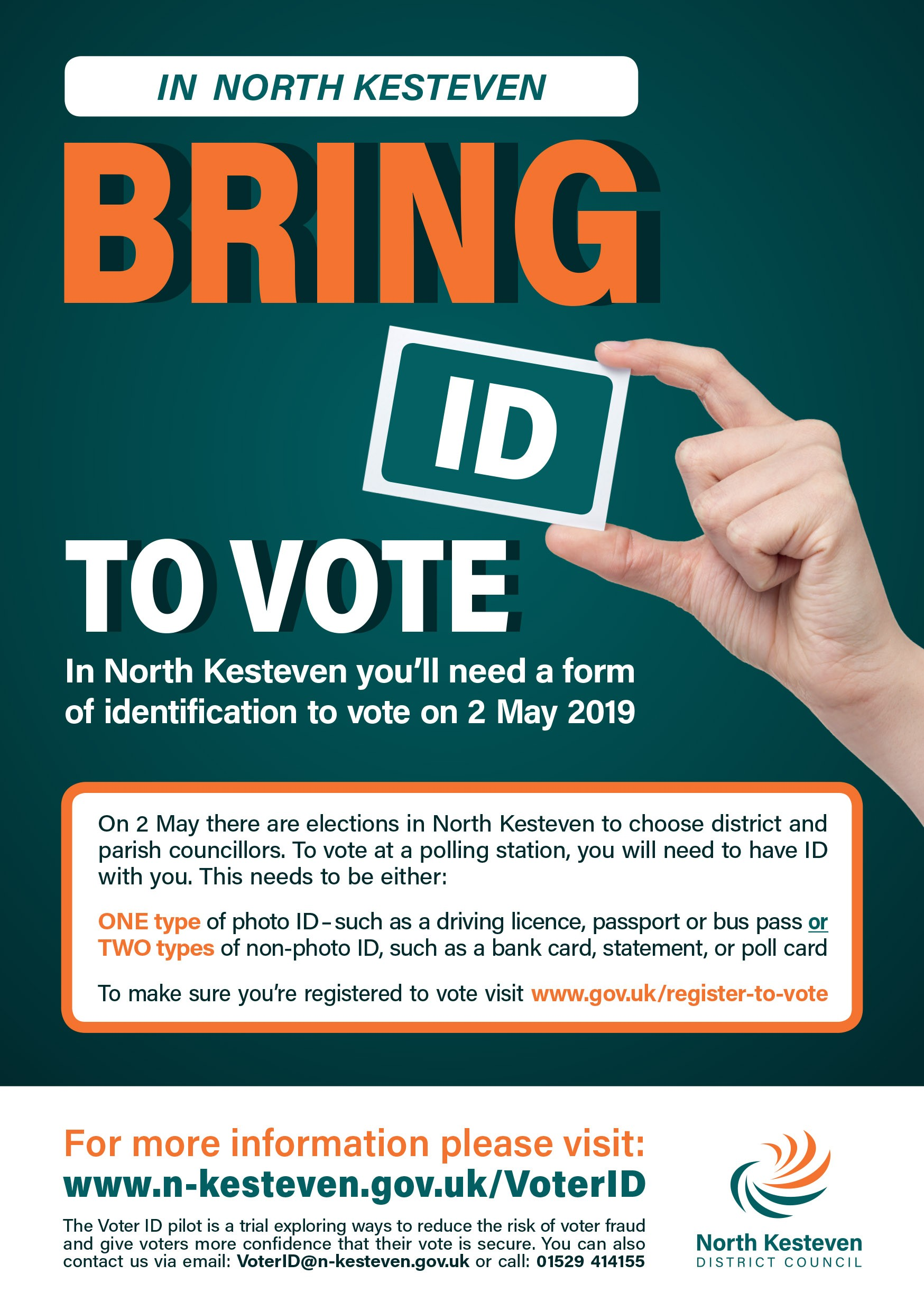 You must bring ID to vote in North Kesteven